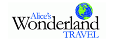Alices's Wonderland Travel Logo